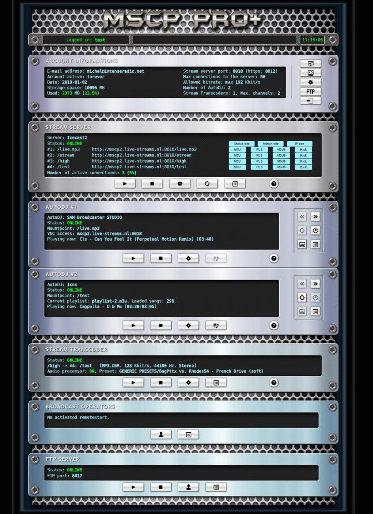 MSCP pro + control panel server
