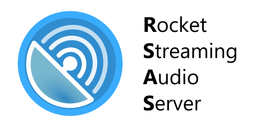 Rocket Streaming Audio Server RSAS logo